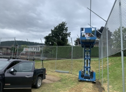 baseball chain link fence