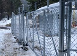 chain link gate installation