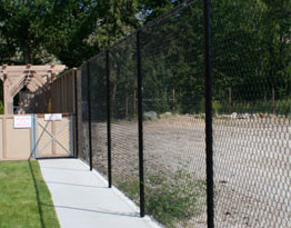Recreational chain link fence